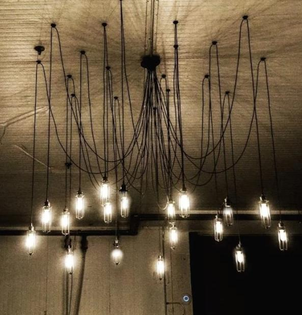 large 19 pendant light black swag chandelier