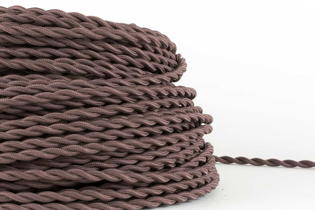 Taupe Twisted Fabric Cord by the Foot