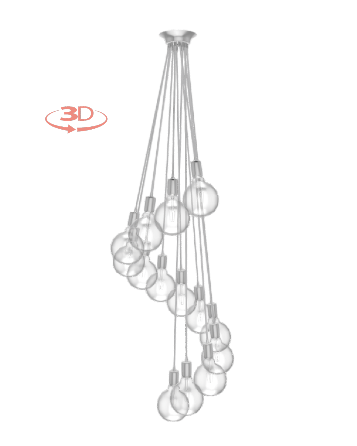 Cluster Chandelier - Staggered: Design Your Own 14 Pendant