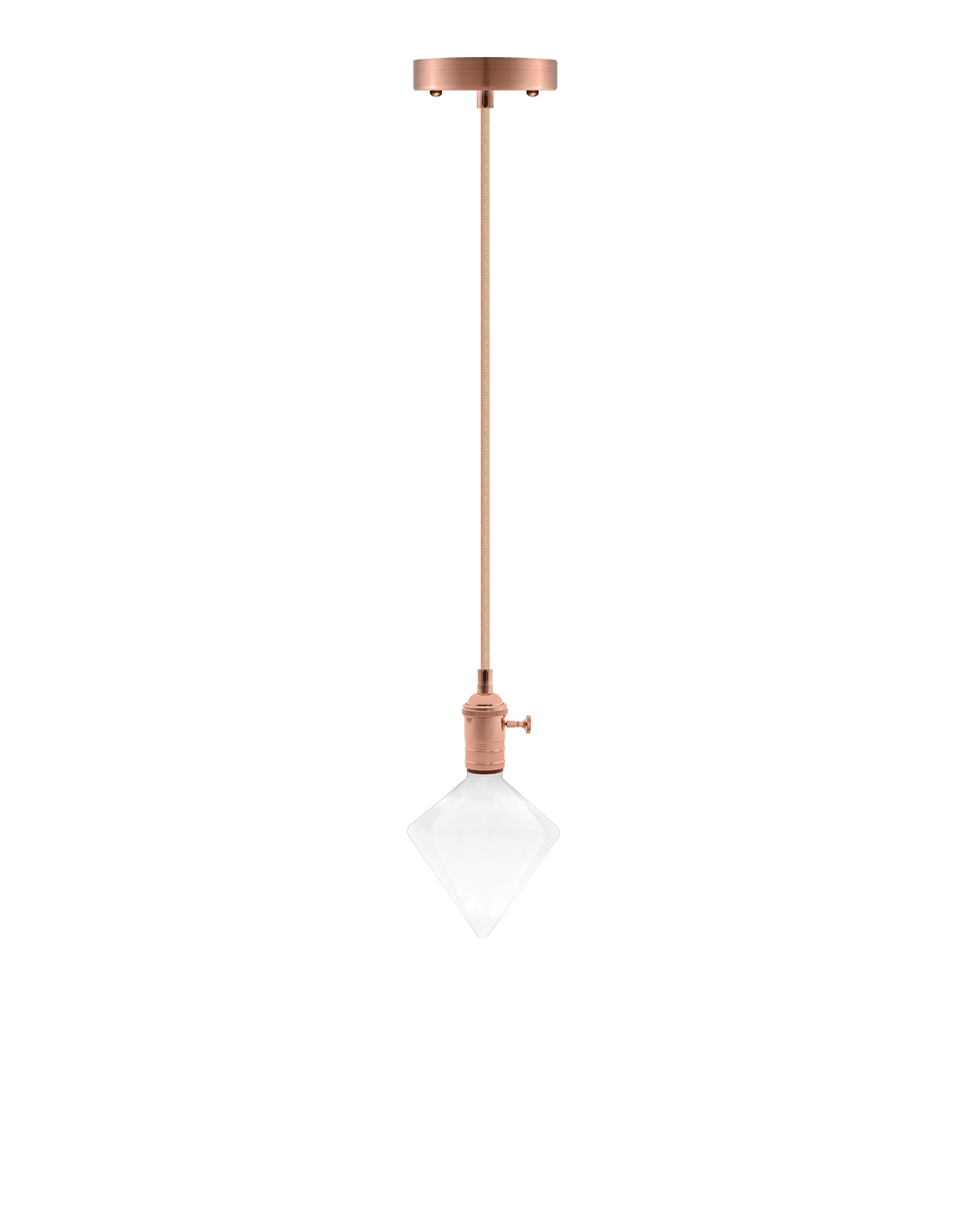 Pendant Light with Copper and Milk White