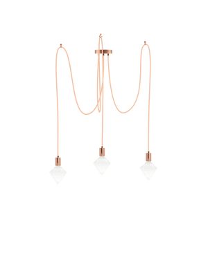 modern copper swag chandelier