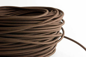 Brown Fabric Cord by the Foot Hangout Lighting