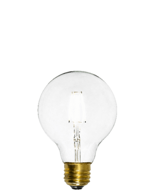 "Bulb: LED - Clear 3"" Globe Hangout Lighting"