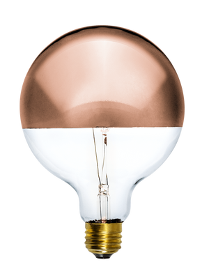 "Bulb: LED Copper Dipped 5"" Globe Hangout Lighting"
