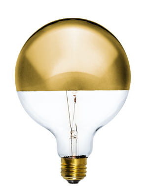 "Bulb: LED Gold Dipped 5"" Globe Hangout Lighting"