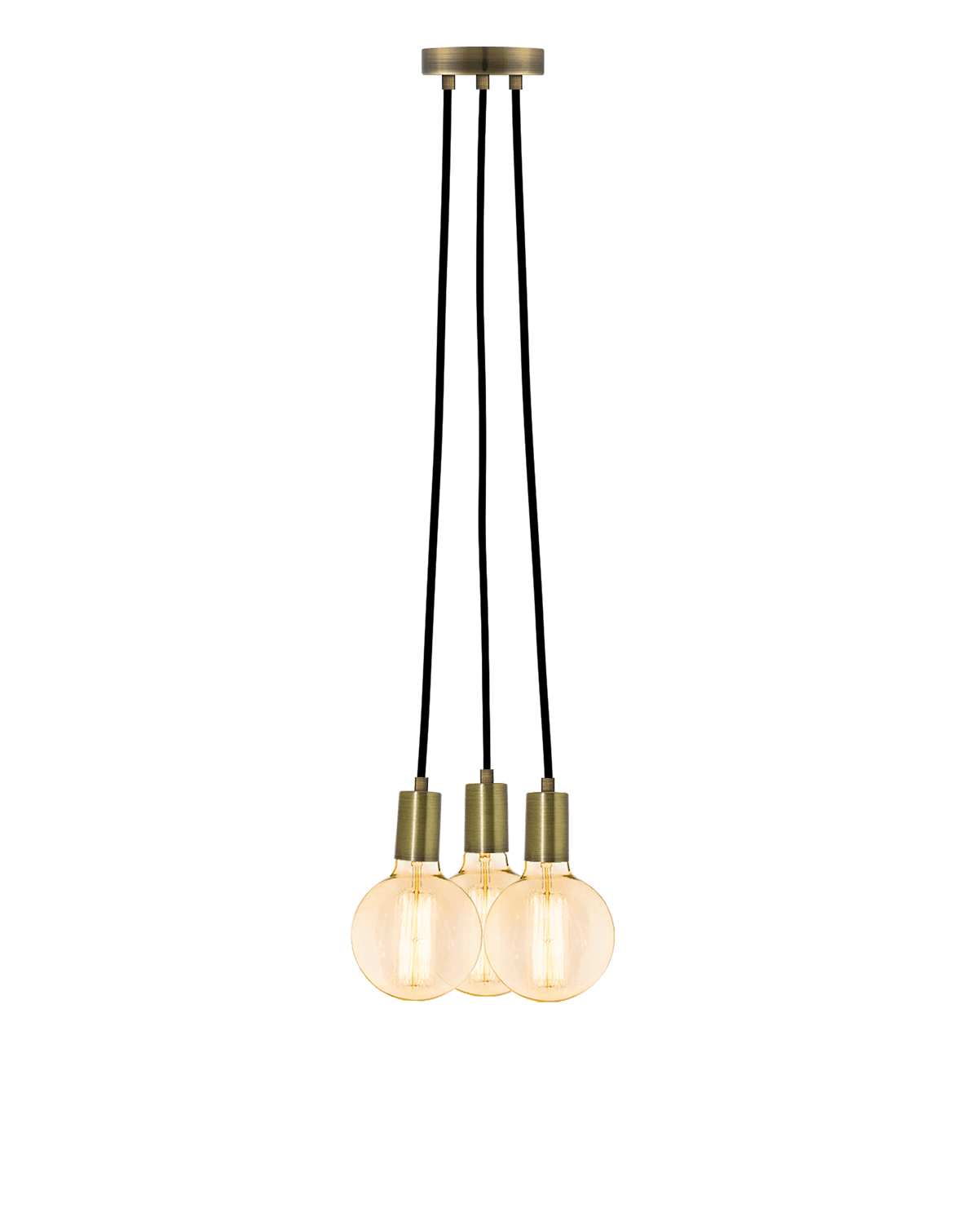 Cluster Chandelier - Even: Black and Antique Brass Hangout Lighting 3 Even