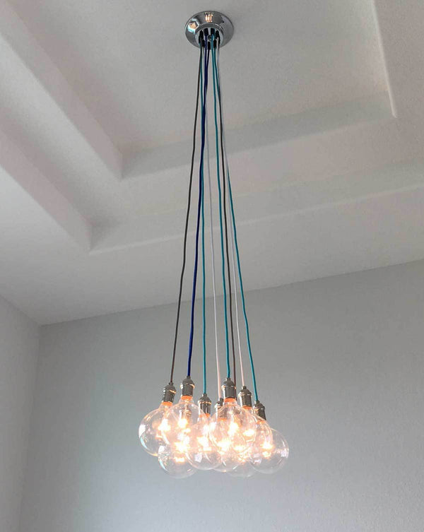 Cluster Chandelier - Even: Design Your Own 9 Pendant Hangout Lighting