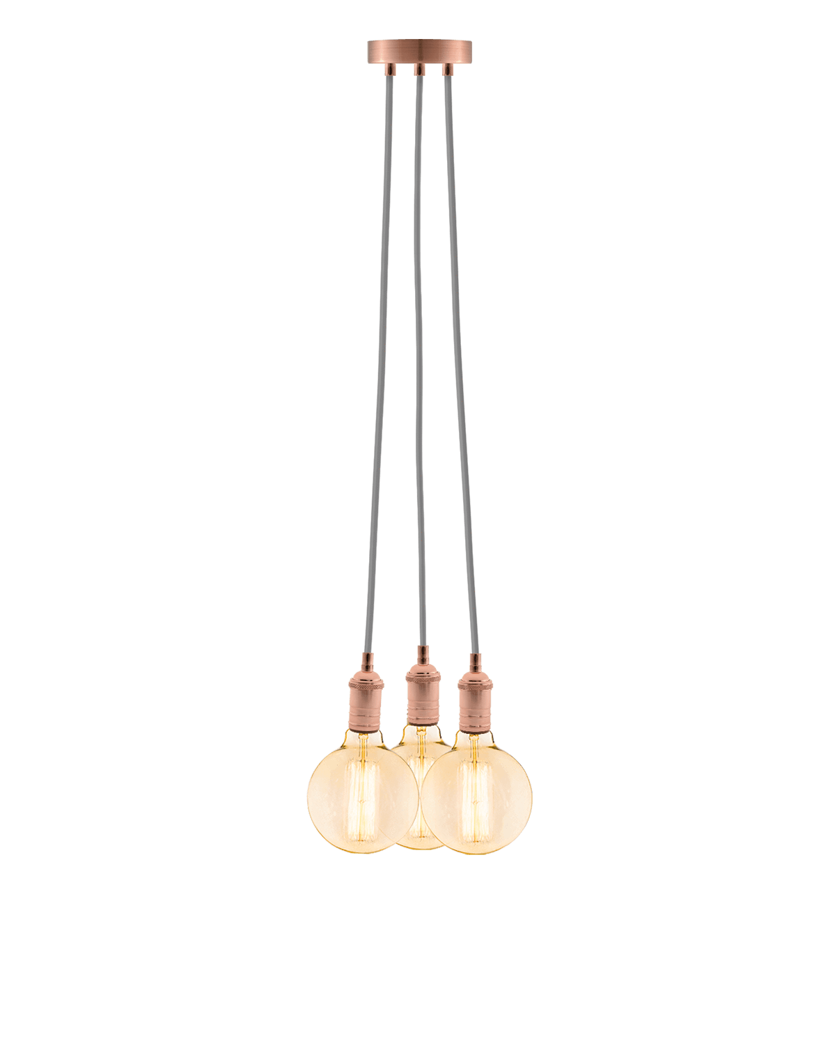 Cluster Chandelier - Even: Grey and Copper Hangout Lighting 3 Even