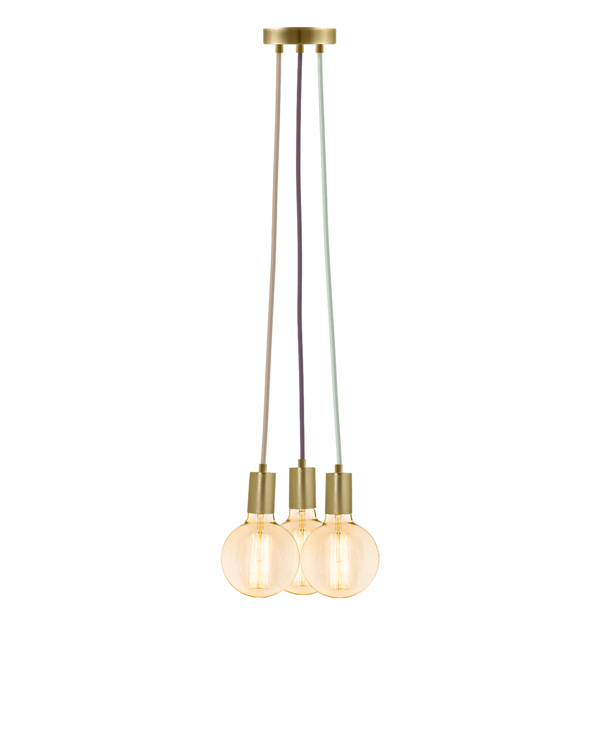 Cluster Chandelier - Even: Mixed and Brass Hangout Lighting 3 Even