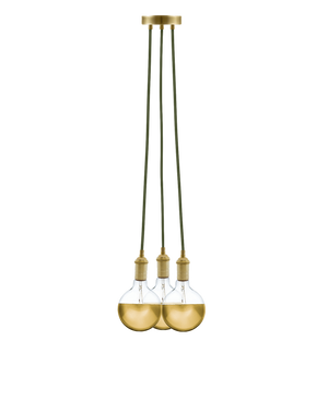 Cluster Chandelier - Even: Olive and Gold Hangout Lighting 3 Even