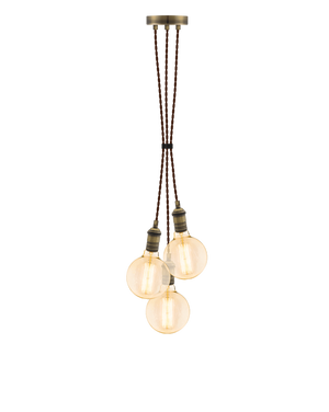 Cluster Chandelier - Grape: Brown and Antique Brass Hangout Lighting 3 Grape