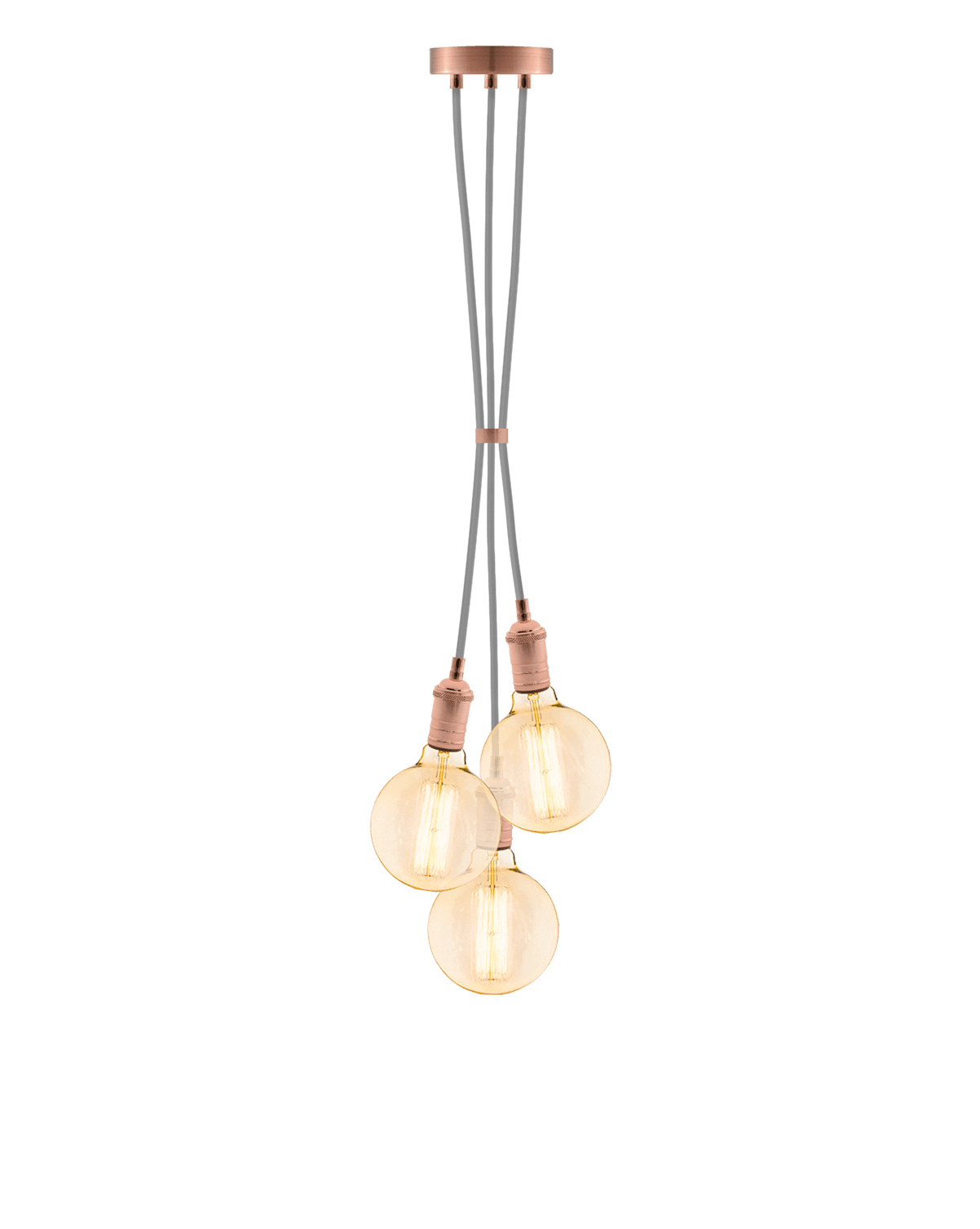 Cluster Chandelier - Grape: Grey and Copper Hangout Lighting 3 Grape