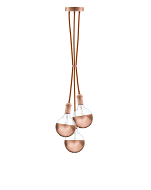 Cluster Chandelier - Grape: Rust and Copper Hangout Lighting 3 Even