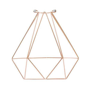 Copper Diamond Cage Hangout Lighting