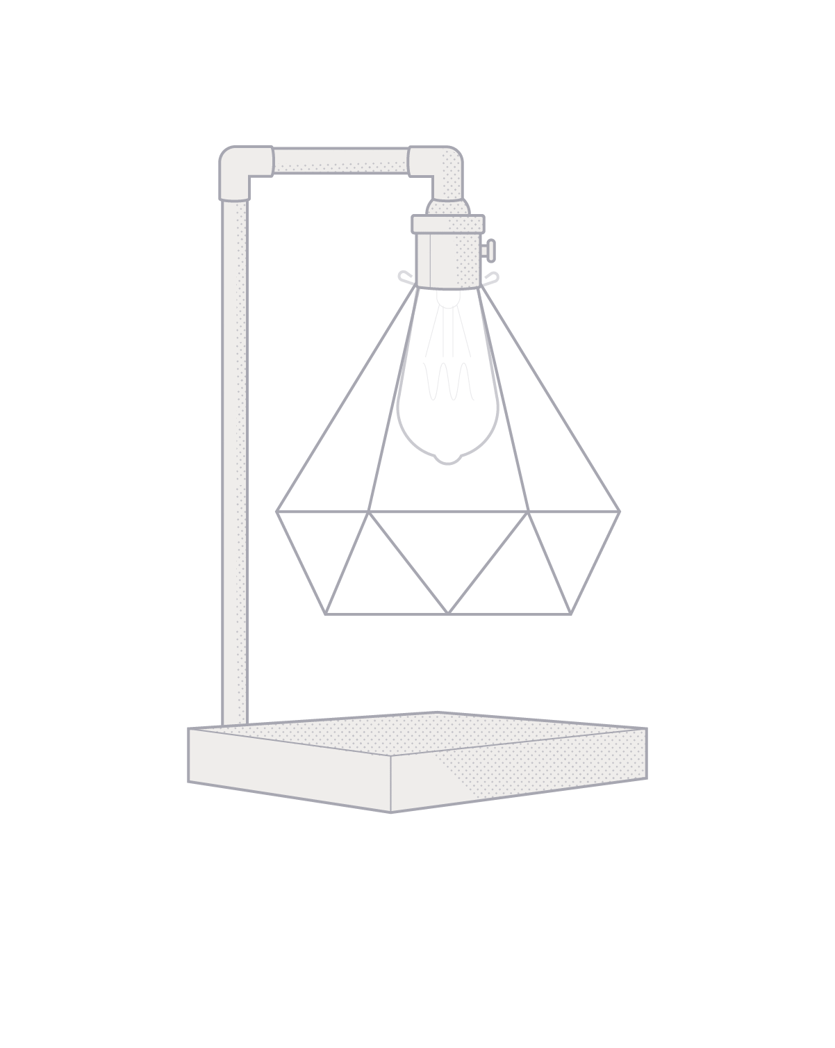 Diamond Table Lamp: Design Your Own Hangout Lighting