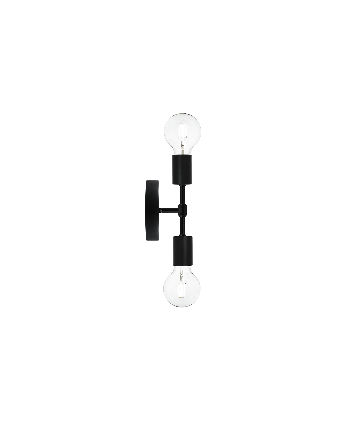 Double Wall Sconce: Black Hangout Lighting