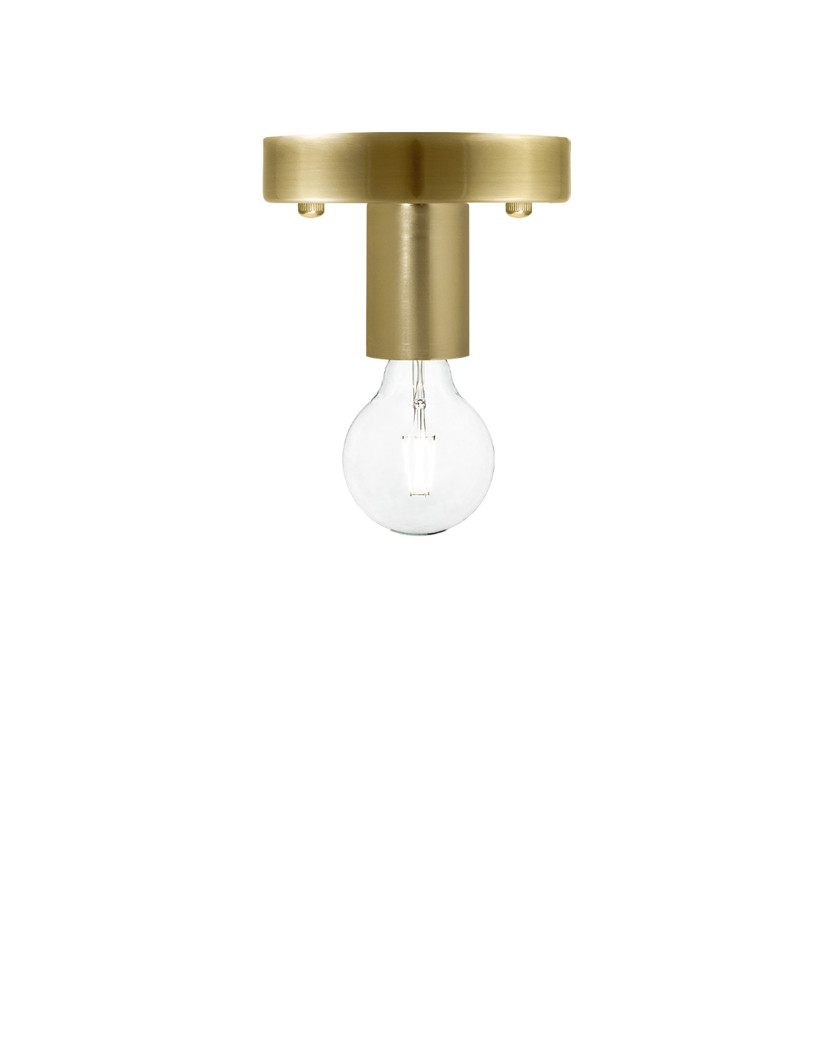 Flush Mount: Modern Brass Hangout Lighting