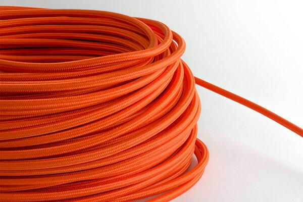 Orange Fabric Cord by the Foot Hangout Lighting