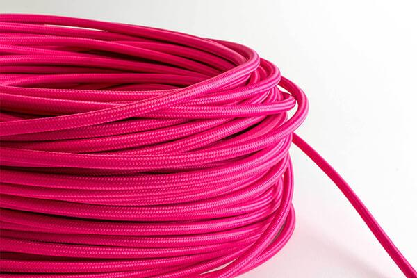 Pink Fabric Cord by the Foot Hangout Lighting