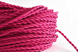 Pink Twisted Fabric Cord by the Foot Hangout Lighting
