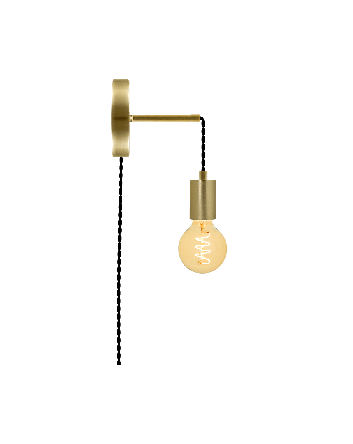 Plug-in Adjustable Wall Sconce: Brass Hangout Lighting