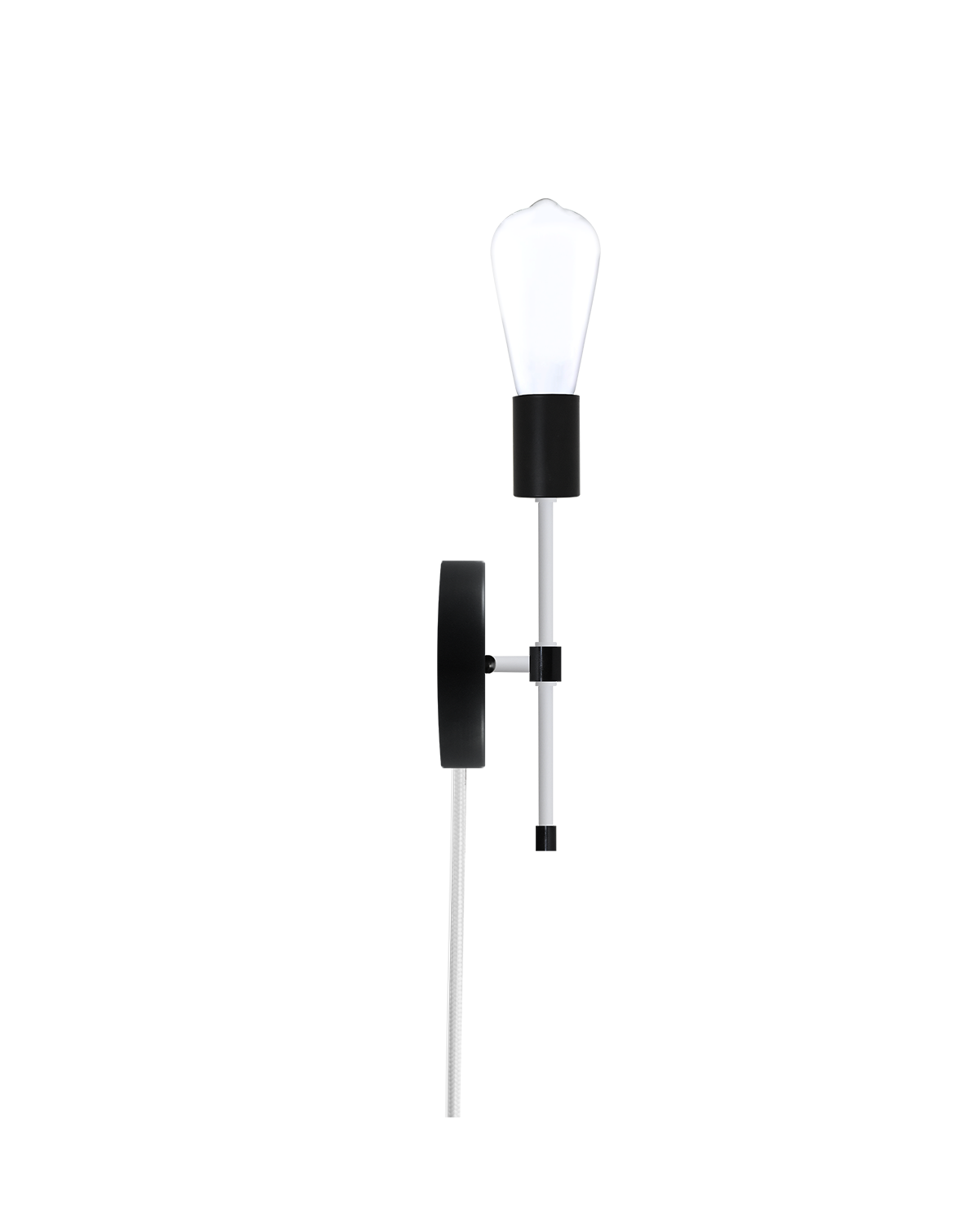 Plug-In Torch Wall Sconce: Black and White Hangout Lighting