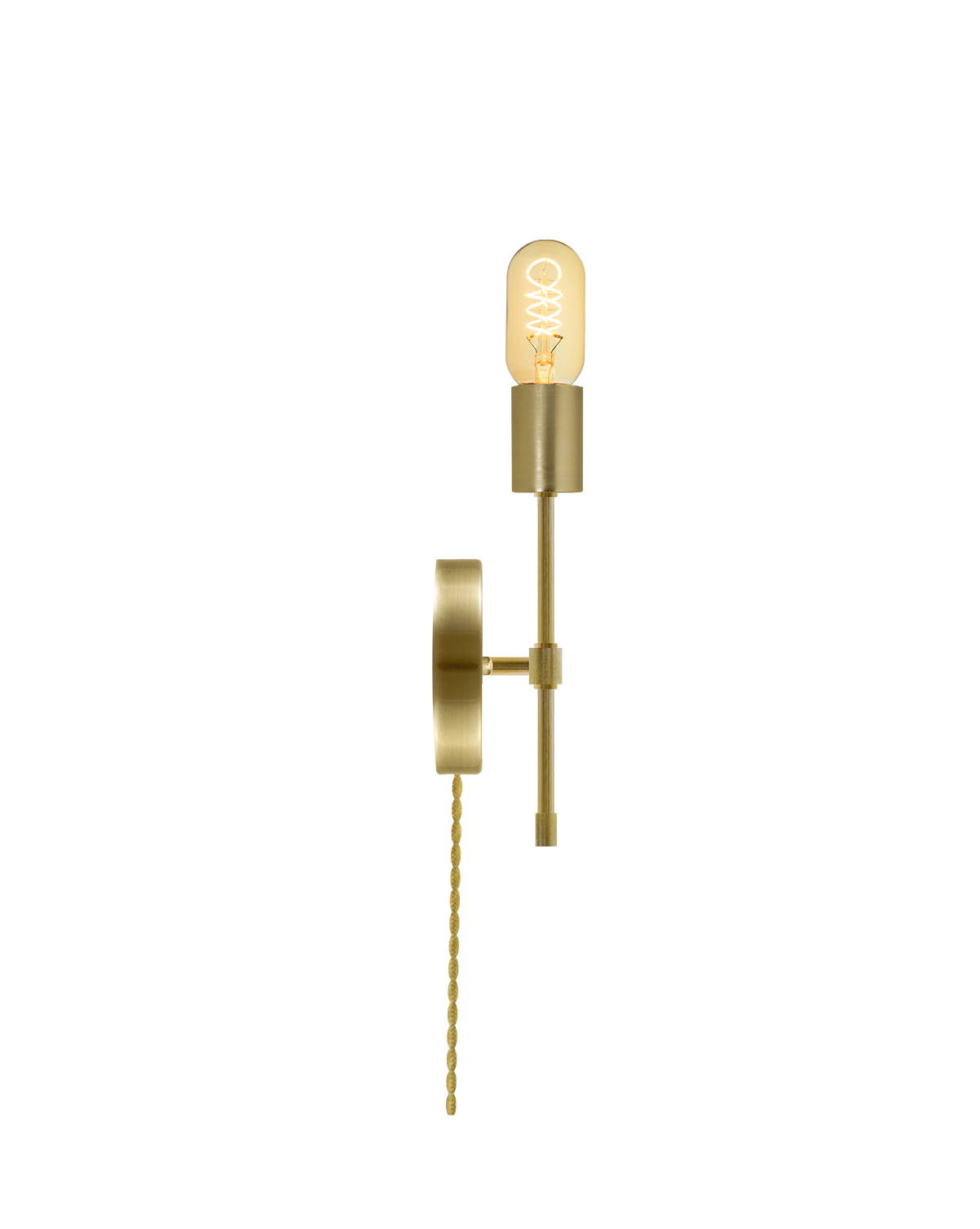 Plug-In Torch Wall Sconce: Brass Hangout Lighting