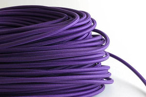 Purple Fabric Cord by the Foot Hangout Lighting