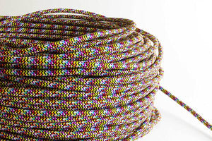 Rainbow Fabric Cord by the Foot Hangout Lighting
