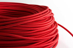 Red Fabric Cord by the Foot Hangout Lighting