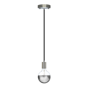 Single Pendant: Black and Chrome Dipped Hangout Lighting