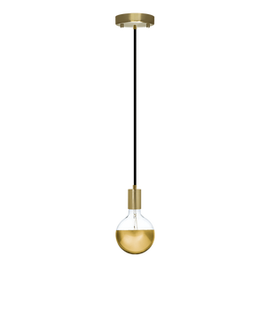 Single Pendant: Brass and Gold Dipped Hangout Lighting