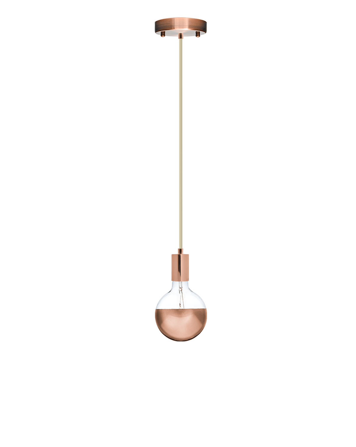 Single Pendant: Champagne and Copper Dipped Hangout Lighting