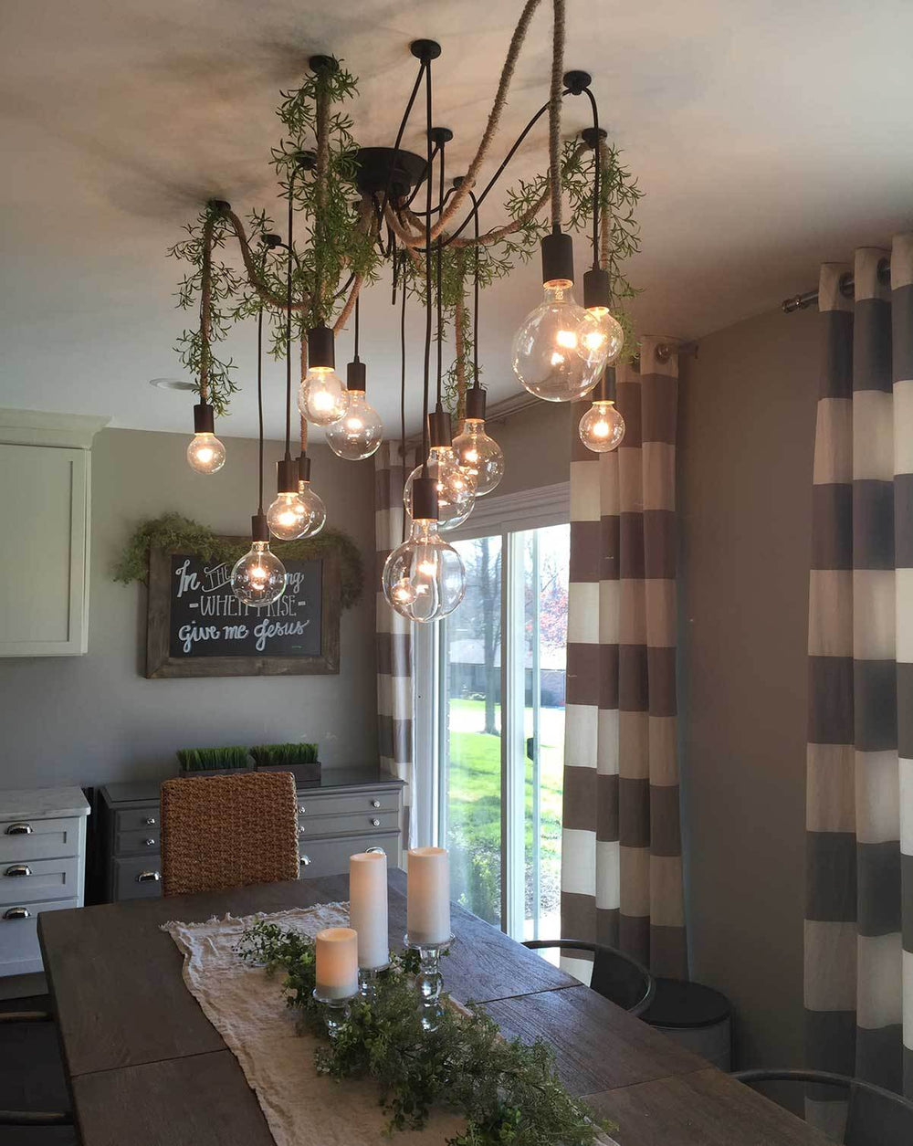 14 pendant swag chandelier with vines