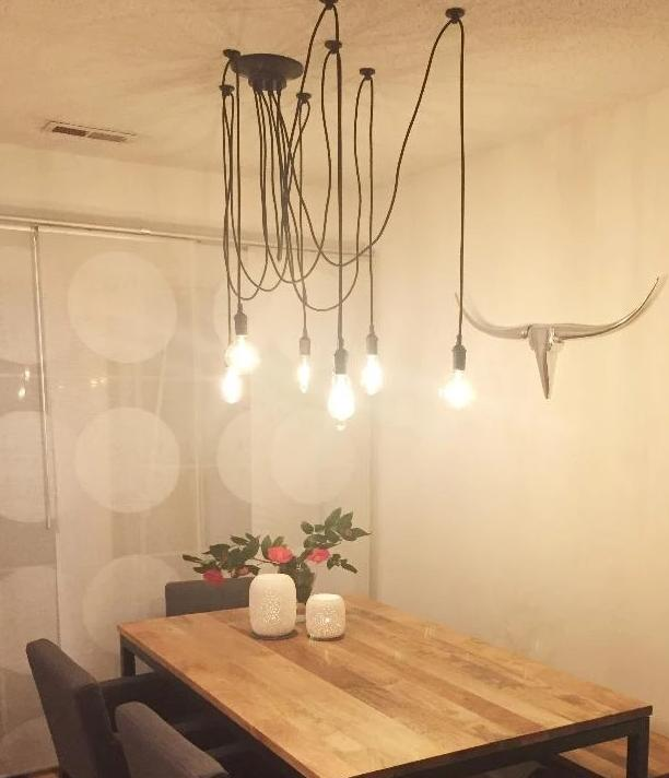cute modern 7 pendant light swag chandelier dining table