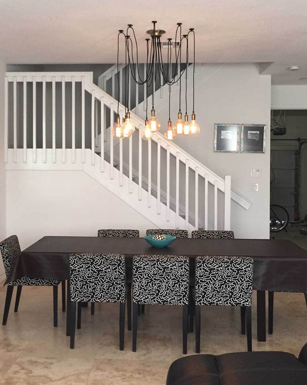 modern 9 pendant light swag chandelier dining room table