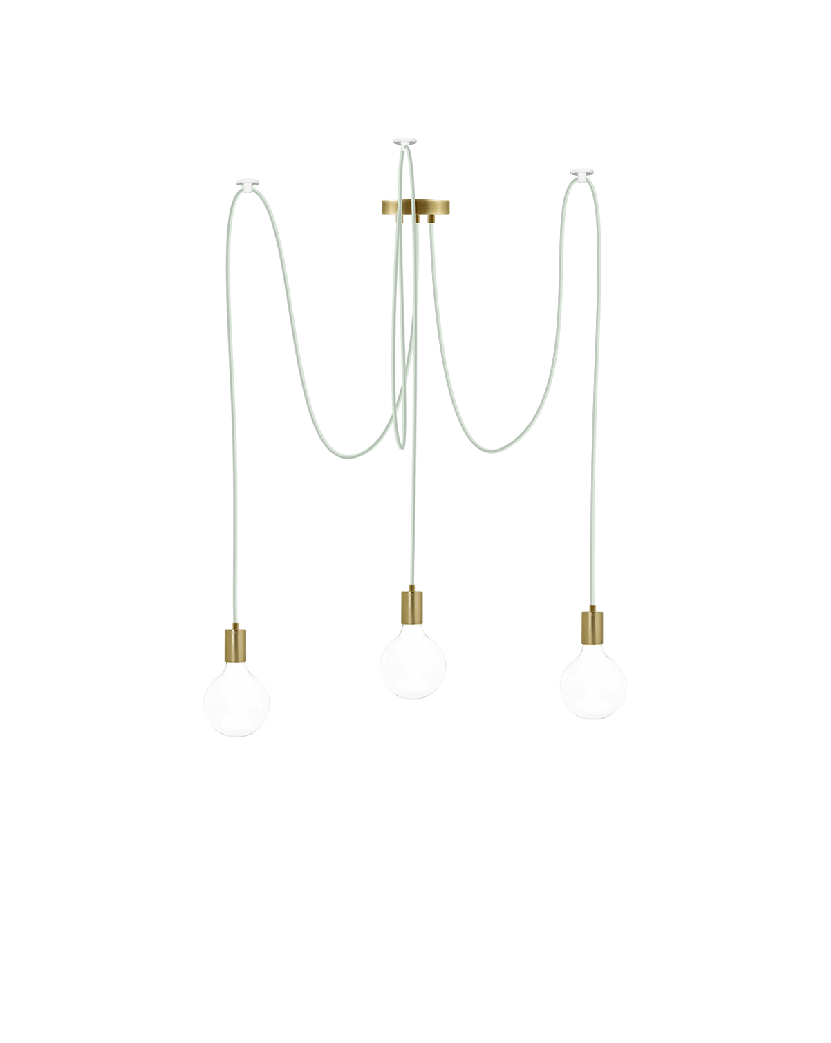 Swag Chandelier: Eucalyptus and Brass Hangout Lighting 3 Swag