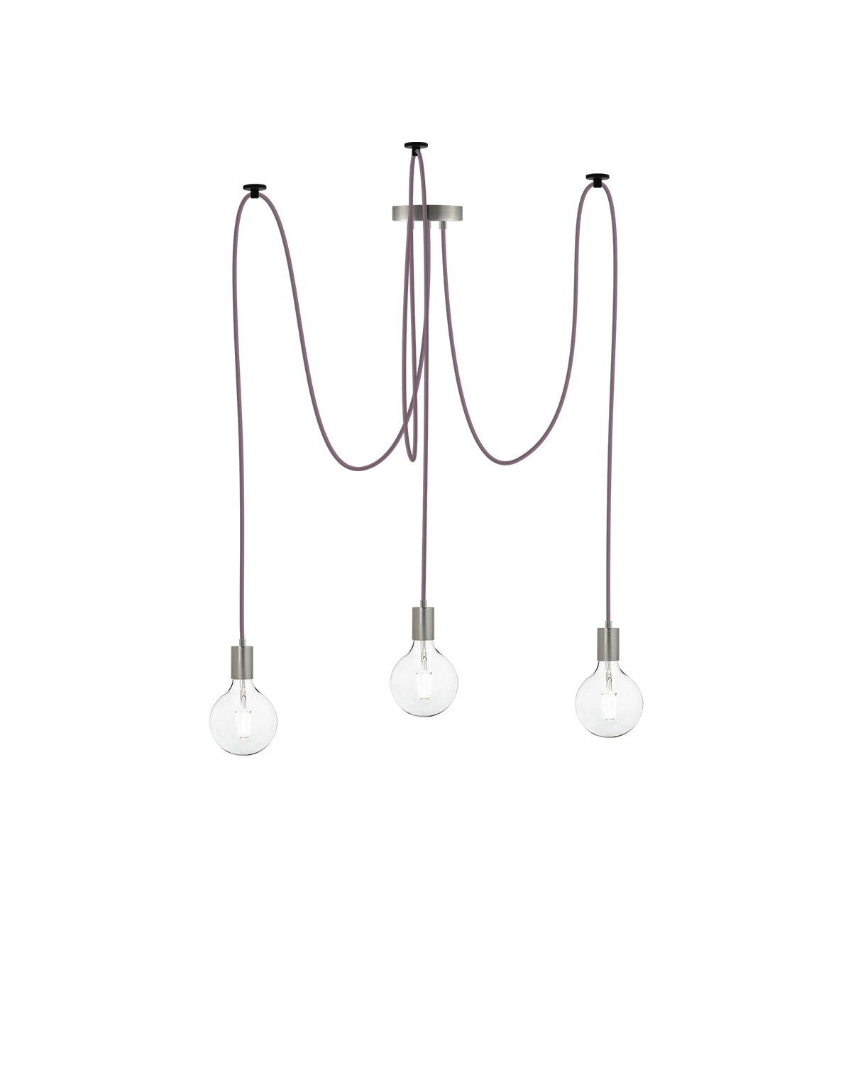 Swag Chandelier: Mauve and Nickel Hangout Lighting 3 Swag