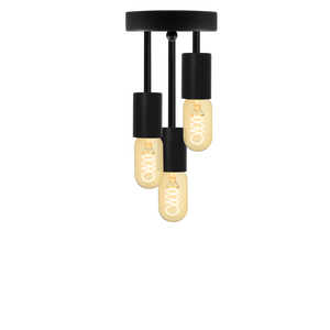Triple Flush Mount: Modern Black