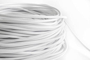 White Fabric Cord by the Foot Hangout Lighting