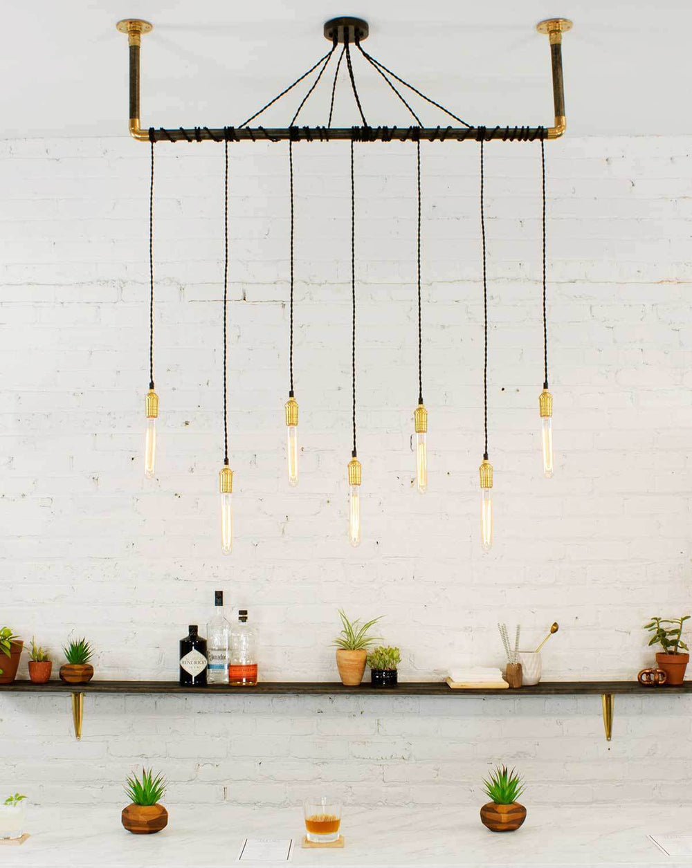 Wrap Chandelier: Design Your Own 7 Pendant Hangout Lighting