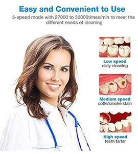 Ultrasonic Teeth Whitening Stain Remover - beautywonderful.com