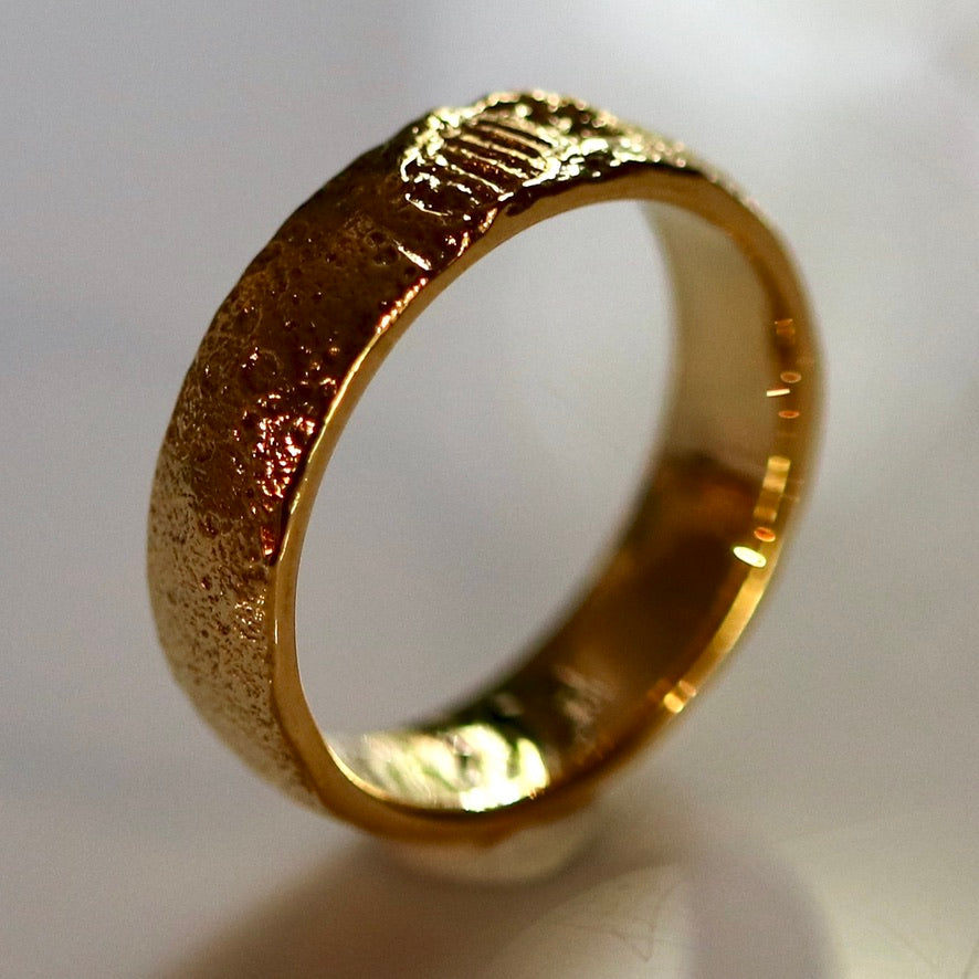 One Small Step Moon Ring - Gold-Plated
