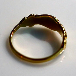 Renaissance Ring with Clasped Hands - Brass