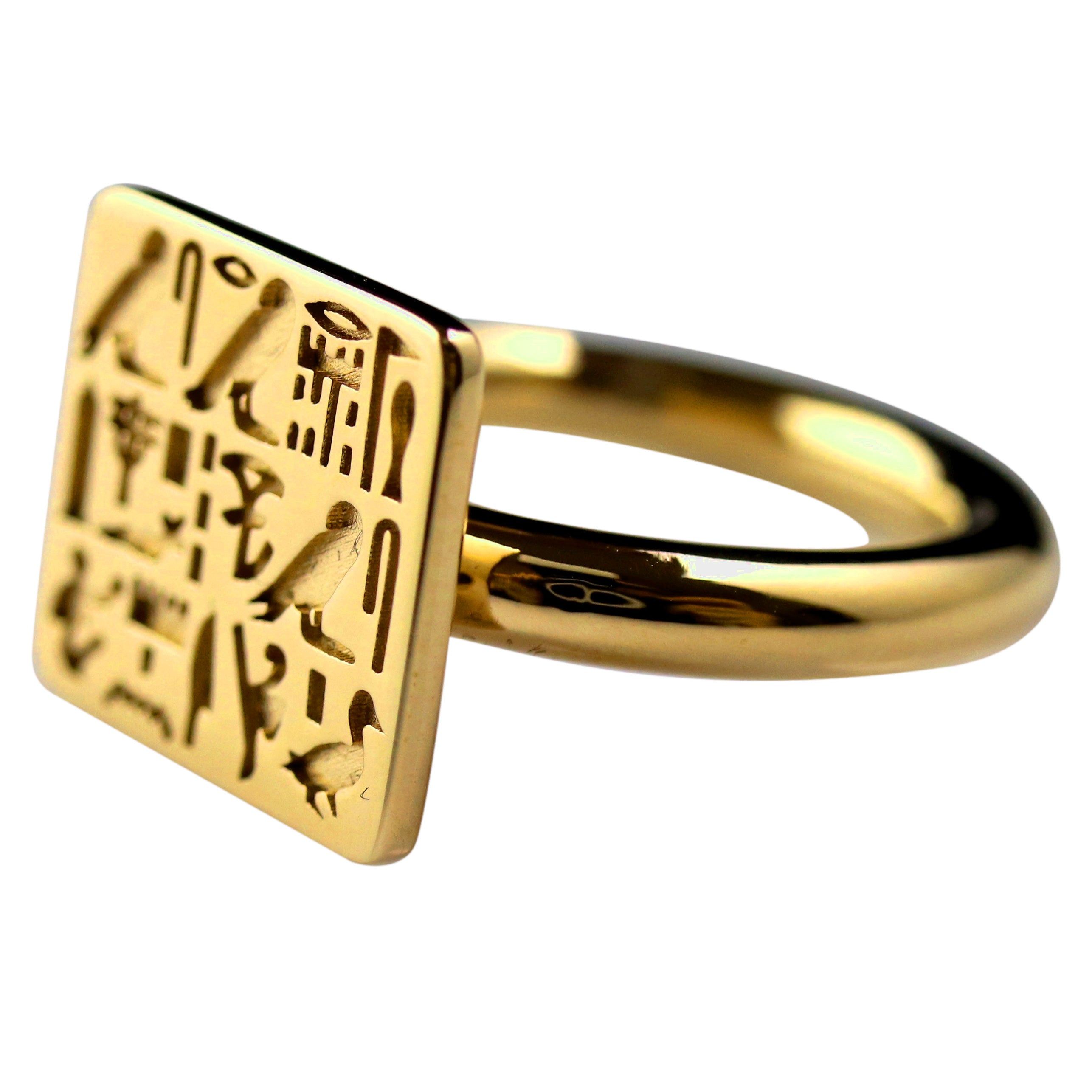 Ring of Priest Sienamun w/ Large Bezel - Gold-Plated