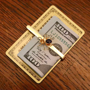 Victorian Spider Tie Bar / Money Clip - Gold Plated Brass
