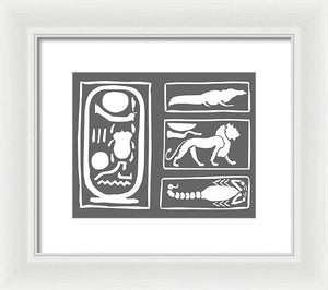 The Ring Of Horemheb - Framed Print - Grey