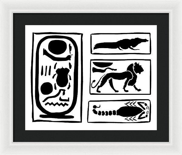 The Ring Of Horemheb - Framed Print - White