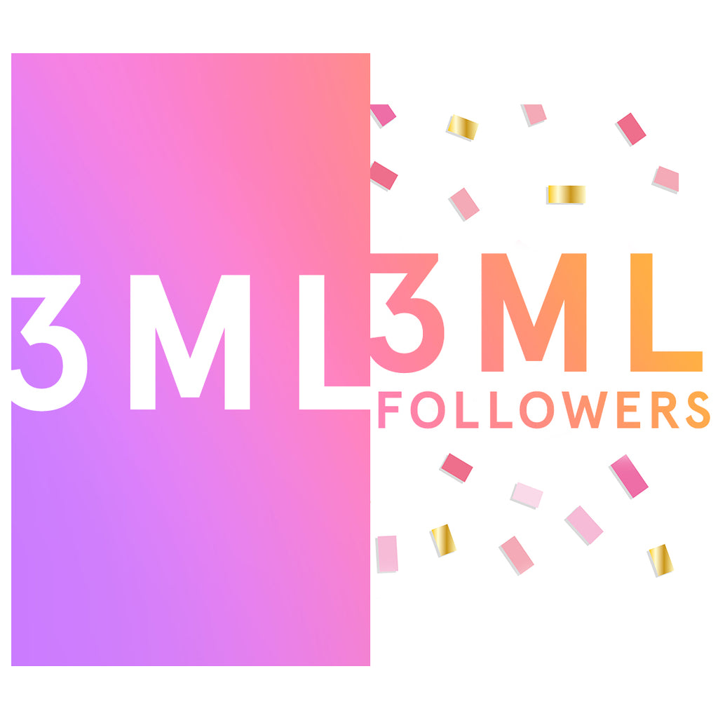 3 million followers on IG
