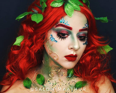 halloween makeup poison ivy